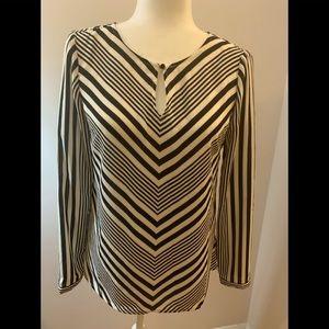 Talbots chevron striped top, size XS